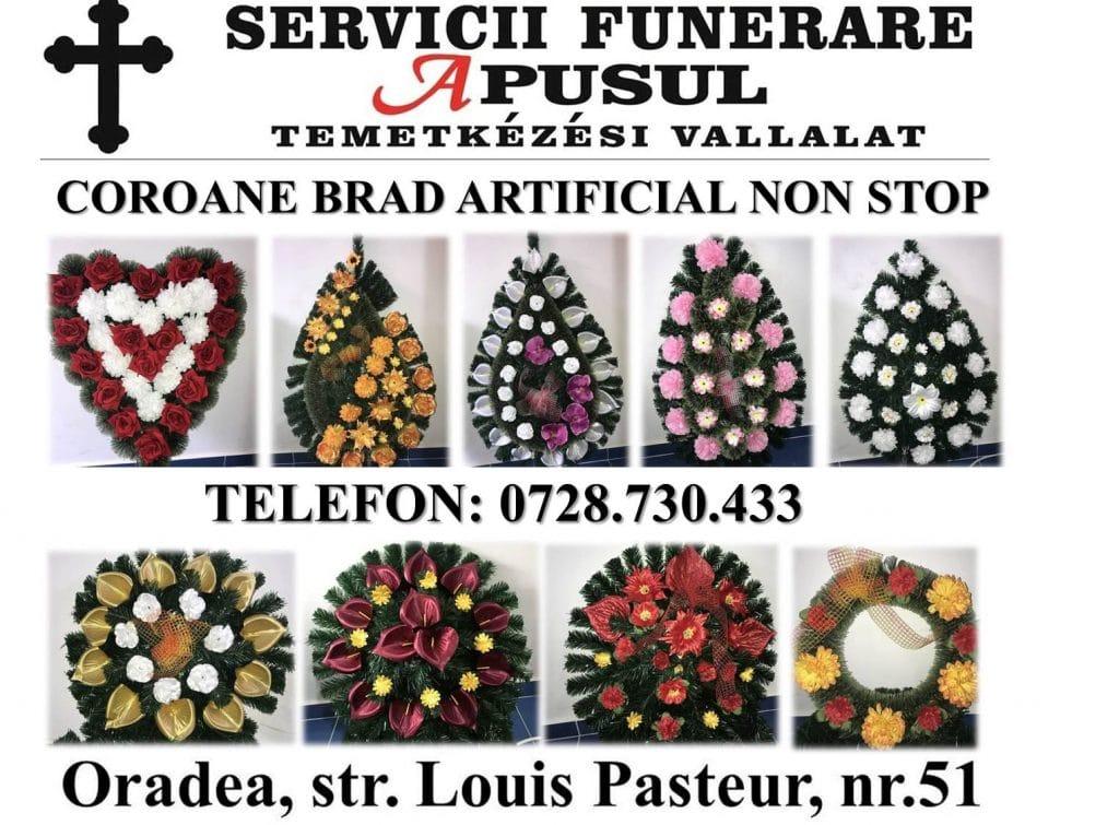 coroane servicii funerare apusul oradea non stop pompe funebre bihor