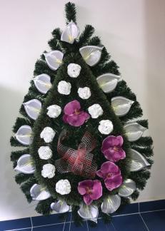 coroana mare lacrima inmormantare orhidee trandafir non stop servicii funerare apusul